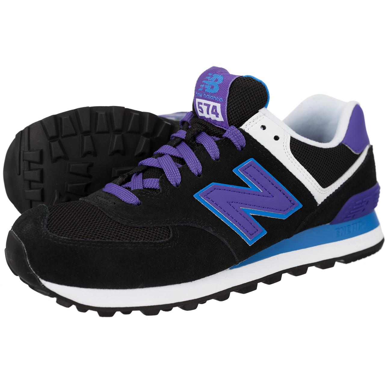 new balance 574 czarno niebieskie