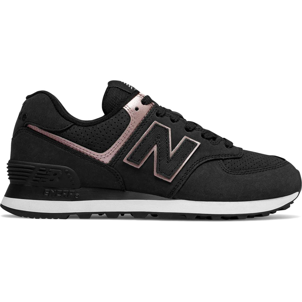 Buty New Balance  <br/><small>WL574NBK BLACK WITH CHAMPAGNE METALLIC </small>