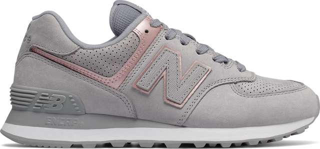 New Balance WL574NBN ARCTIC SKY WITH CHAMPAGNE METALLIC