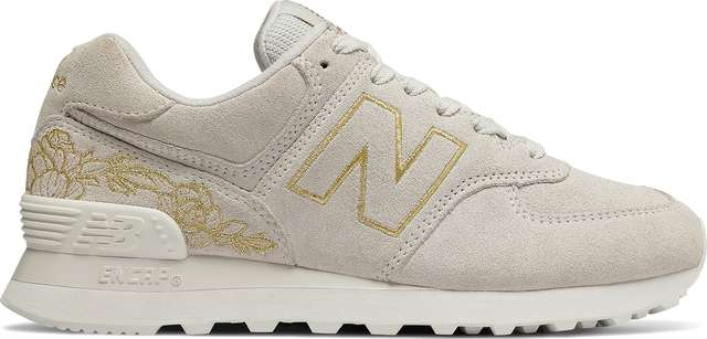 New Balance WL574NGA FLORAL SEA SALT WITH GOLD