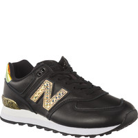 Buty New Balance WL574NRH BLACK WITH METALLIC GOLD GLITTER PUNK