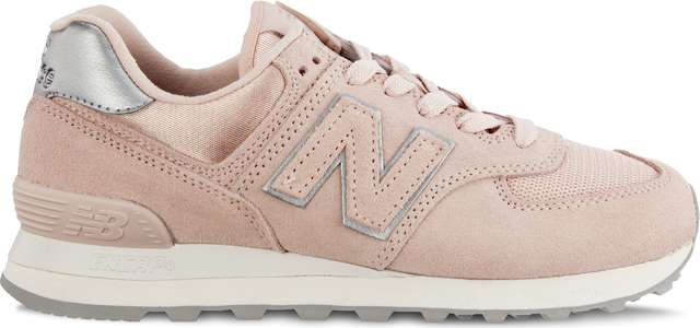 Buty New Balance  <br/><small>WL574OPS SATEEN TAB OYSTER PINK WITH METALLIC SILVER </small>