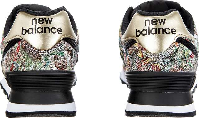 Buty New Balance  <br/><small>WL574SNA SWEET NECTAR BLACK WITH CLASSIC GOLD </small>