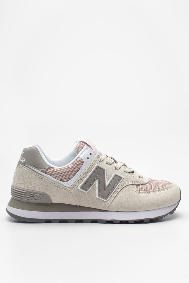 New Balance WL574WNA OYSTER WITH OXYGEN PINK