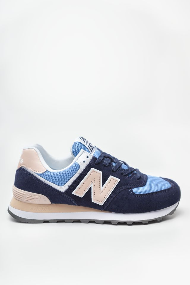 New Balance WL574WND BLUE WITH SALMON