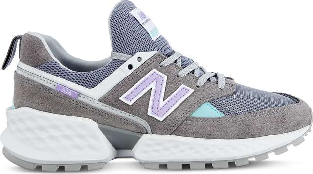 New Balance WS574PRC SPORT GUNMETAL WITH DARK VIOLET GLO