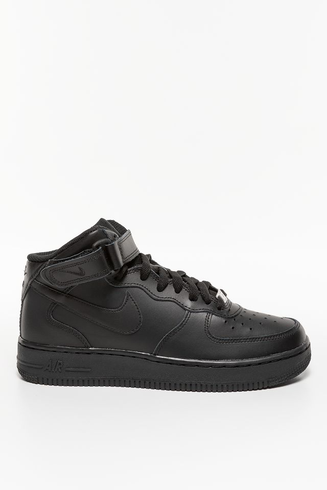BLACK NIKE AIR FORCE 1 MID 195