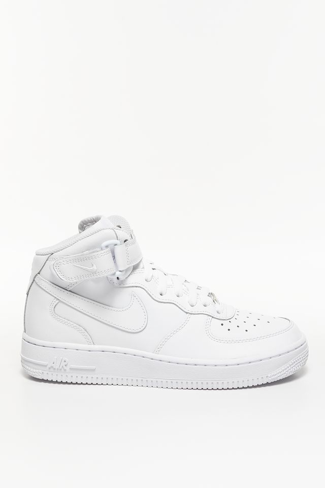 WHITE NIKE AIR FORCE 1 MID 195