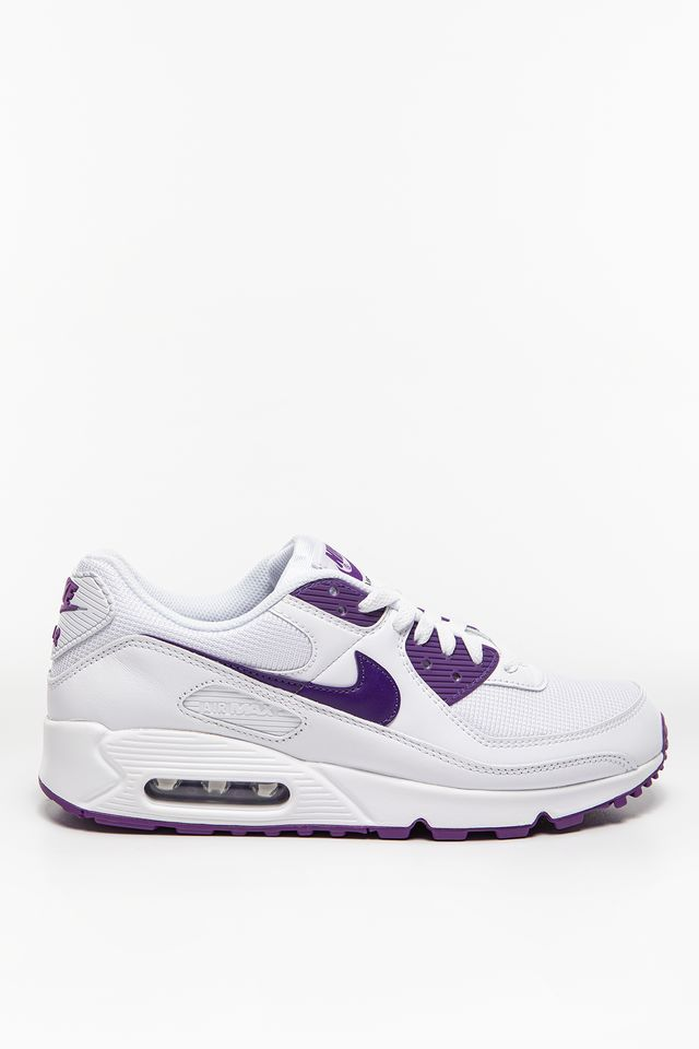 WHITE/VOLTAGE PURPLE-BLACK Air Max 90 CT1028-100