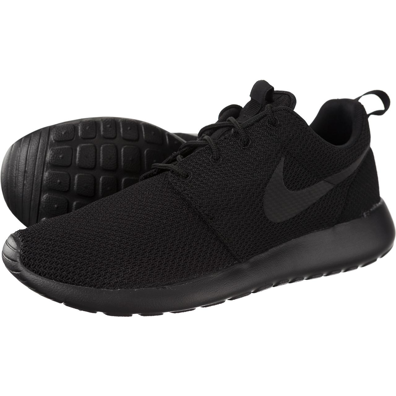 All Black Roshe Nike Shoes