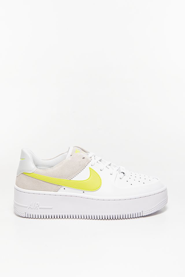 WHITE / GREY / YELLOW WMNS AF1 Sage Lo 652