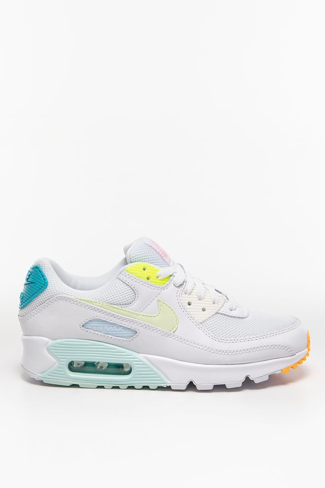 WHITE/BARELY VOLT-AURORA GREEN WMNS Air Max 90 CZ0366-100