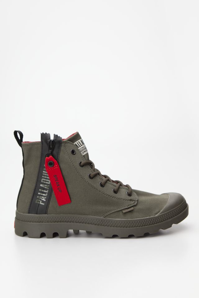 Palladium PAMPA UNZIPPED OLIVE NIGHT 76443-309