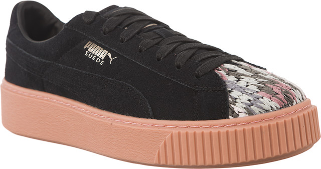 Puma PLATFORM SUNFSTITCH BLACK/PEACH BEIGE 36590702