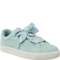 Puma SUEDE HEART PEBBLE AQUIFER/BLUE FLOWER 36521003