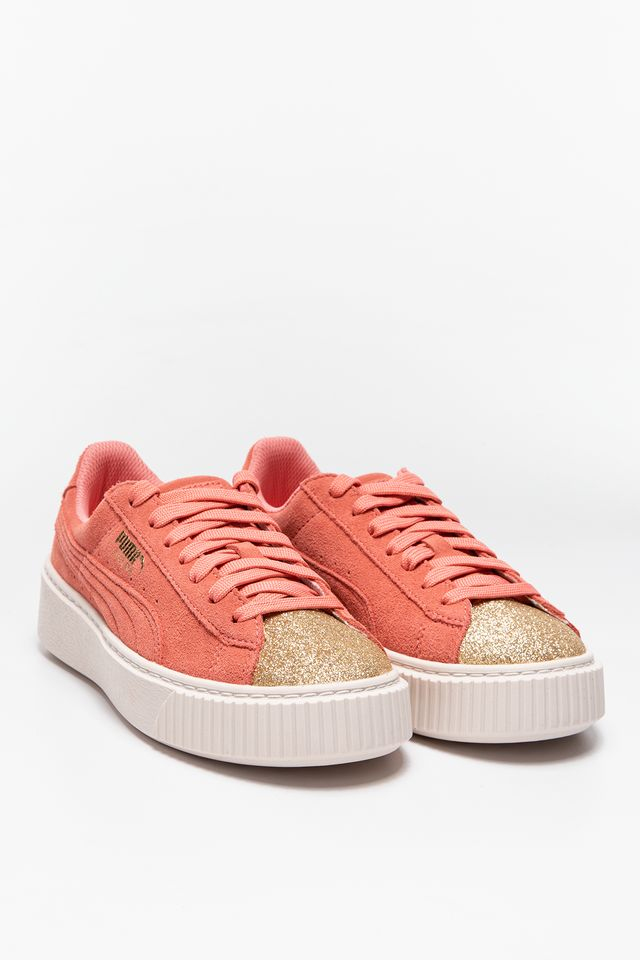 Buty Puma  <br/><small>SUEDE PLATFORM GLAM PUMA TEAM GOLD/SHELL PINK </small>  36492105