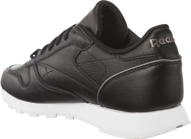Buty Reebok  <br/><small>CLASSIC LEATHER HW BLACK/SILVER METALLIC/WHITE </small>  BS9879