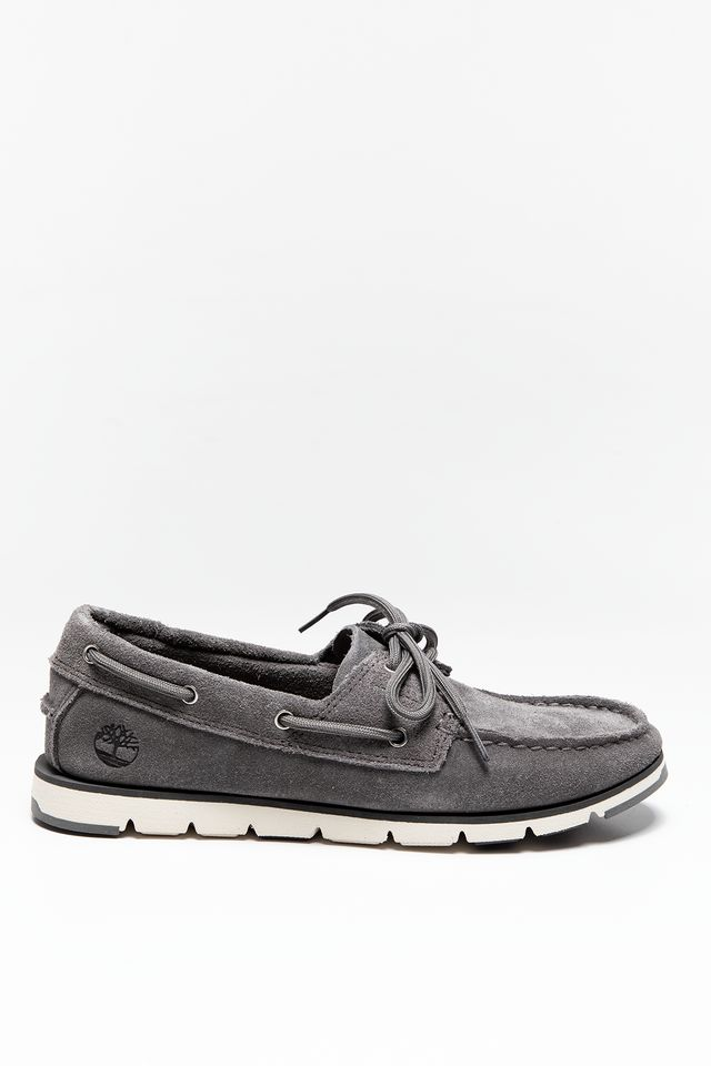 Timberland CAMDEN FALLS SUEDE BOAT SHOES GUNMETAL A1P8A