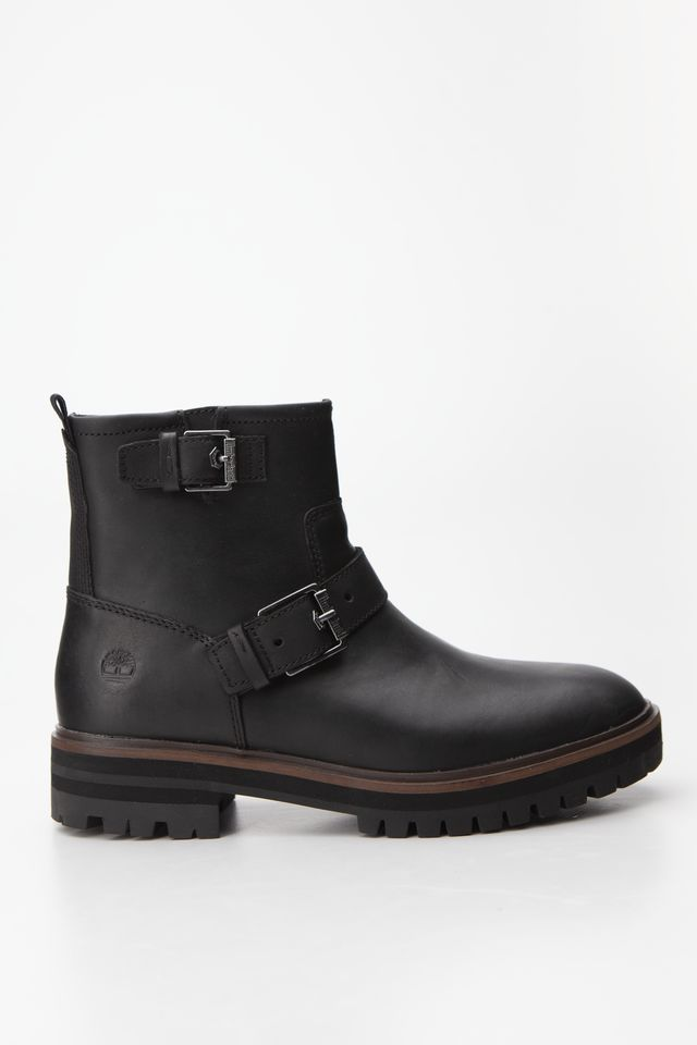 Timberland LONDON SQUARE BIKER BOOT 015 BLACK FULL-GRAIN TB0A23JY0151