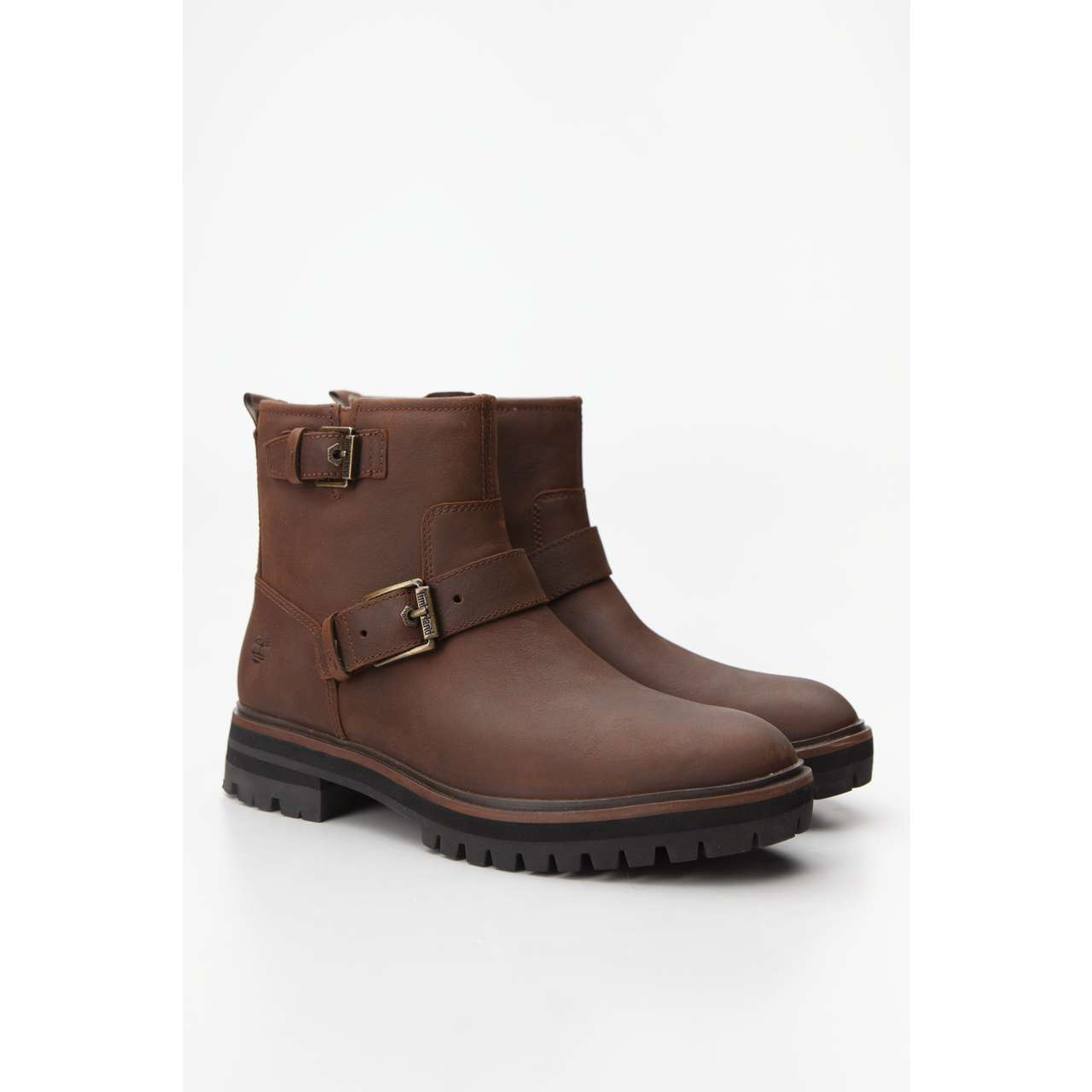 Buty Timberland  <br/><small>LONDON SQUARE BIKER BOOT 203 MEDIUM BROWN FULL-GRAIN </small>  TB0A29552031