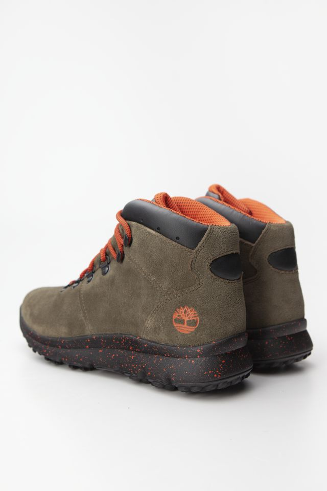 Buty Timberland  <br/><small>WORLD HIKER A58 DARK GREEN SUEDE </small>  TB0A216KA581
