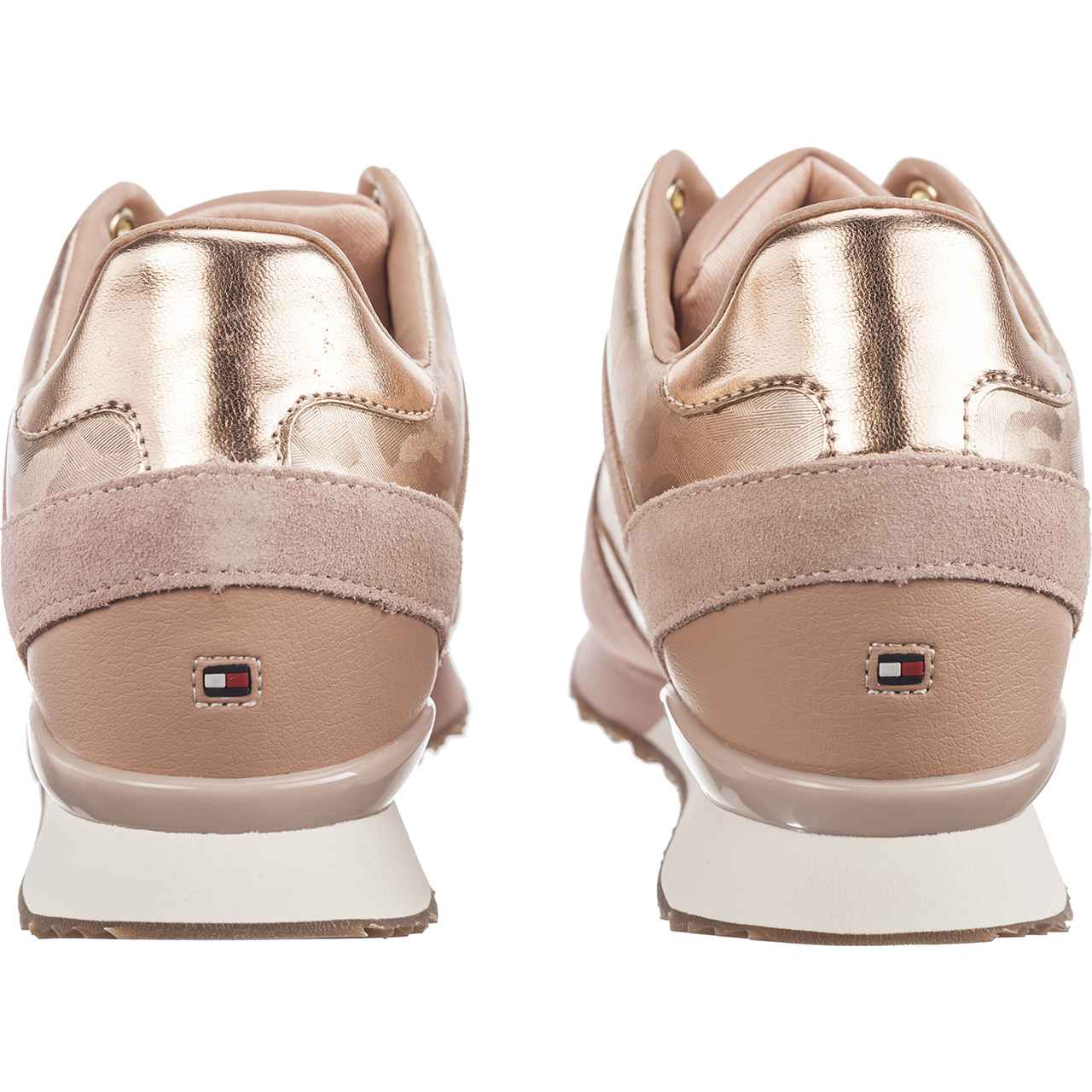 Buty Tommy Hilfiger  <br/><small>CAMO METALLIC WEDGE 641 MAHOGANY ROSE </small>  FW0FW03264-641