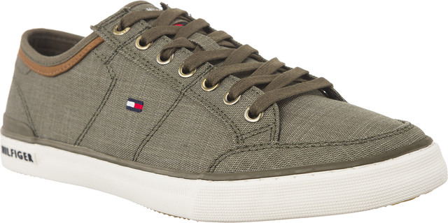 Tommy Hilfiger CORE MATERIAL MIX SNEAKER DUSTY OLIVE FM0FM01332-011