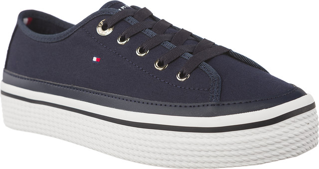 Tommy Hilfiger CORPORATE FLATFORM SNEAKER 406 TOMMY NAVY FW0FW02456-406