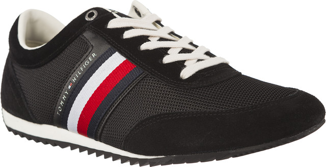 Tommy Hilfiger CORPORATE MATERIAL MIX RUNNER 990 BLACK FM0FM01314-990