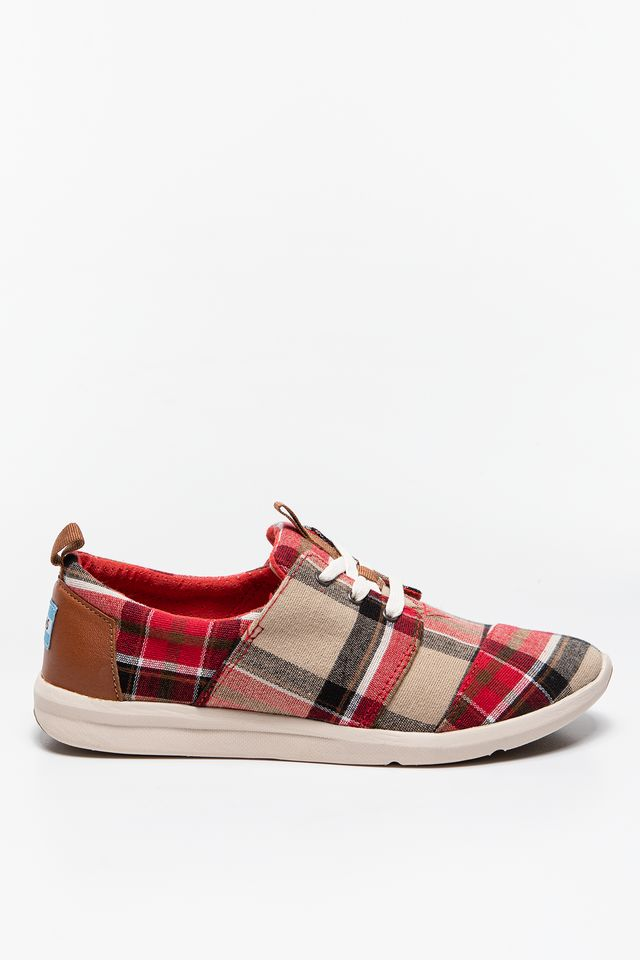 TOMS Plaid Womens Del Rey Sneaker 895 10008895