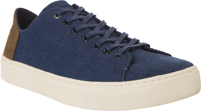 TOMS Washed Canvas Leather Mens 862 10010862