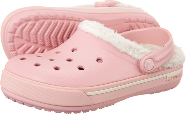 Crocs Kids Crocband 2.5 Winter Clog Petal Pink/oatmeal 12839-6B7