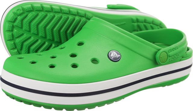 Crocs Crocband Grass Green White 11016-3E3
