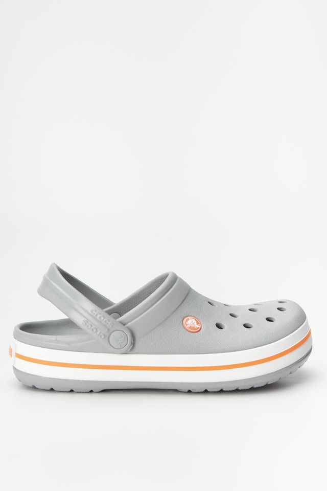 Crocs CROCBAND 0FL LIGHT GREY/BRIGHT CORAL 11016
