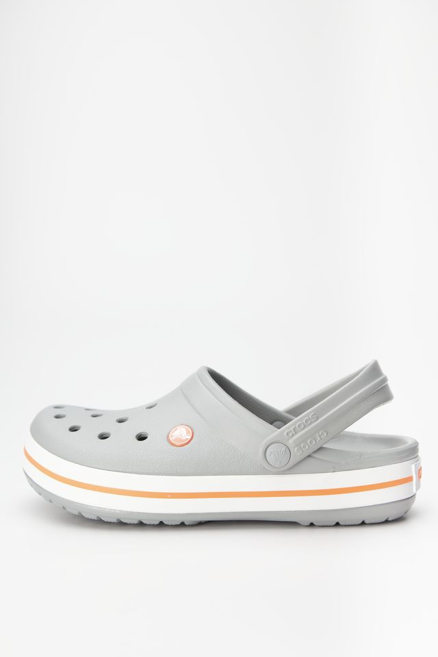 Chodaki Crocs  <br/><small>CROCBAND 0FL LIGHT GREY/BRIGHT CORAL </small>  11016