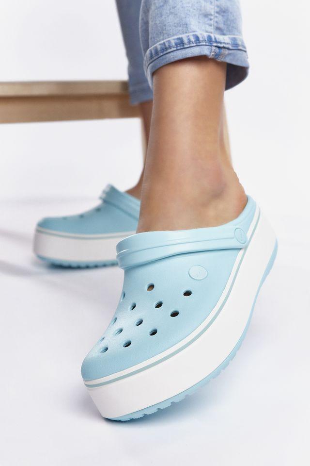 Crocs CROCBAND PLATFORM CLOG 4JE ICE BLUE/ICE BLUE 205434-4JE