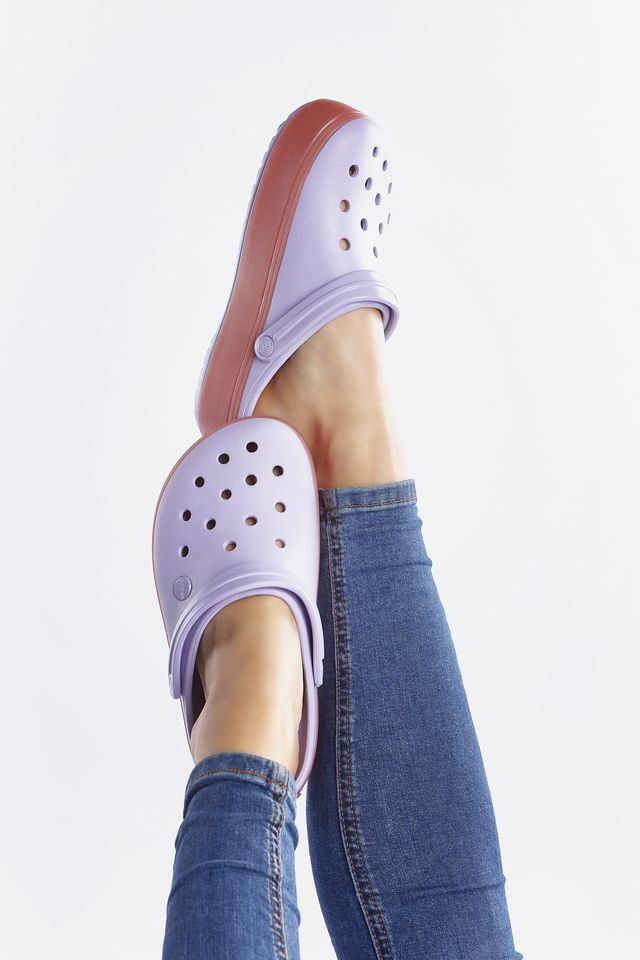 Crocs CROCBAND PLATFORM CLOG 5P9 LAVENDER/MELON 205434-5P9