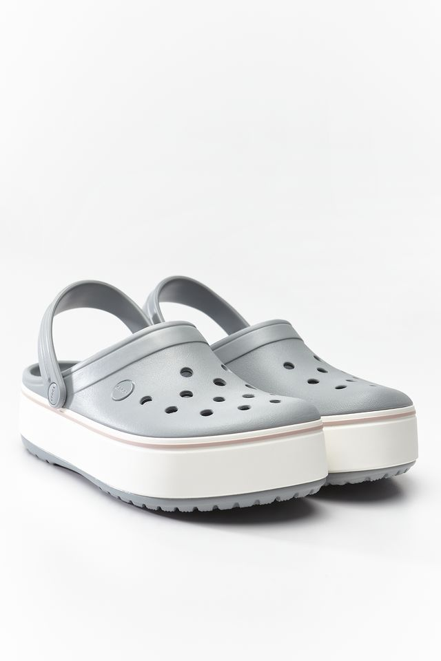 Chodaki Crocs  <br/><small>CROCBAND PLATFORM CLOG 04M LIGHT GREY/ROSE </small>  205434-04M