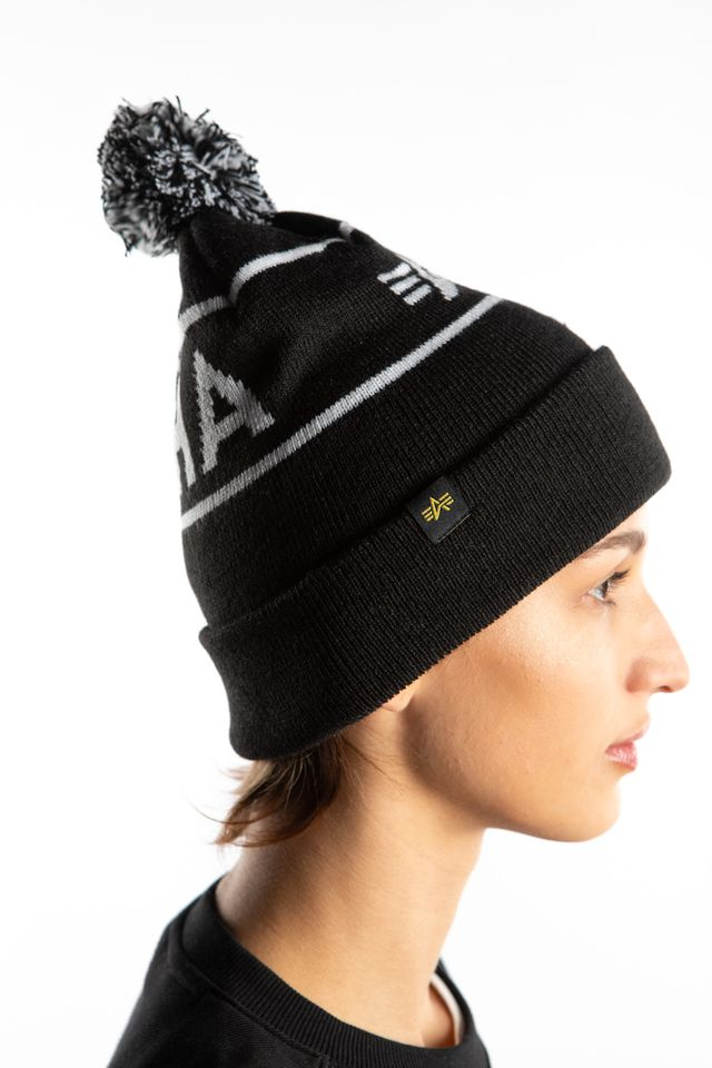 Czapka Alpha Industries  <br/><small>BLOCK BOOBLE BEANIE 03 BLACK </small>  198907-03