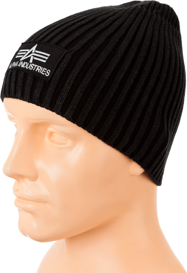 Alpha Industries HEAVY RIB BEANIE BLACK 153901-30