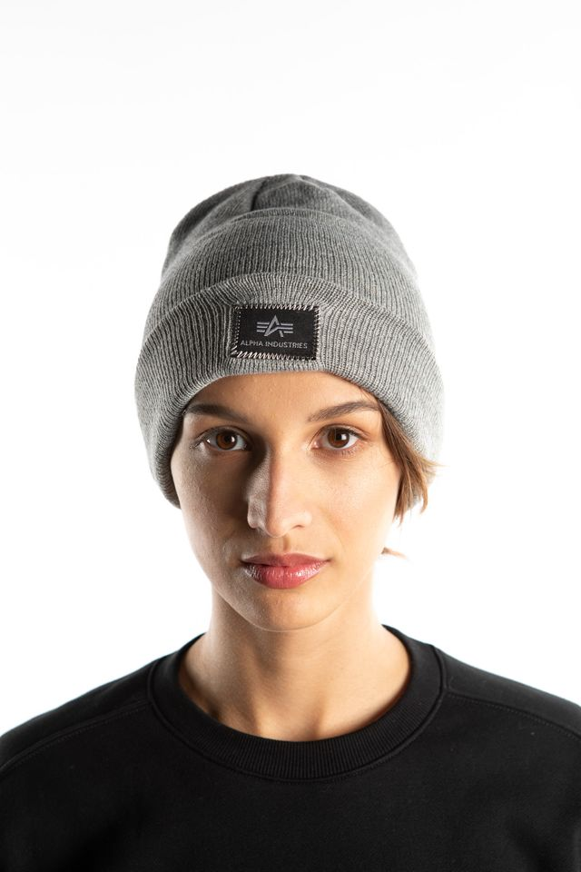 Alpha Industries X-FIT BEANIE 17 GREY HEATHER 168905-17