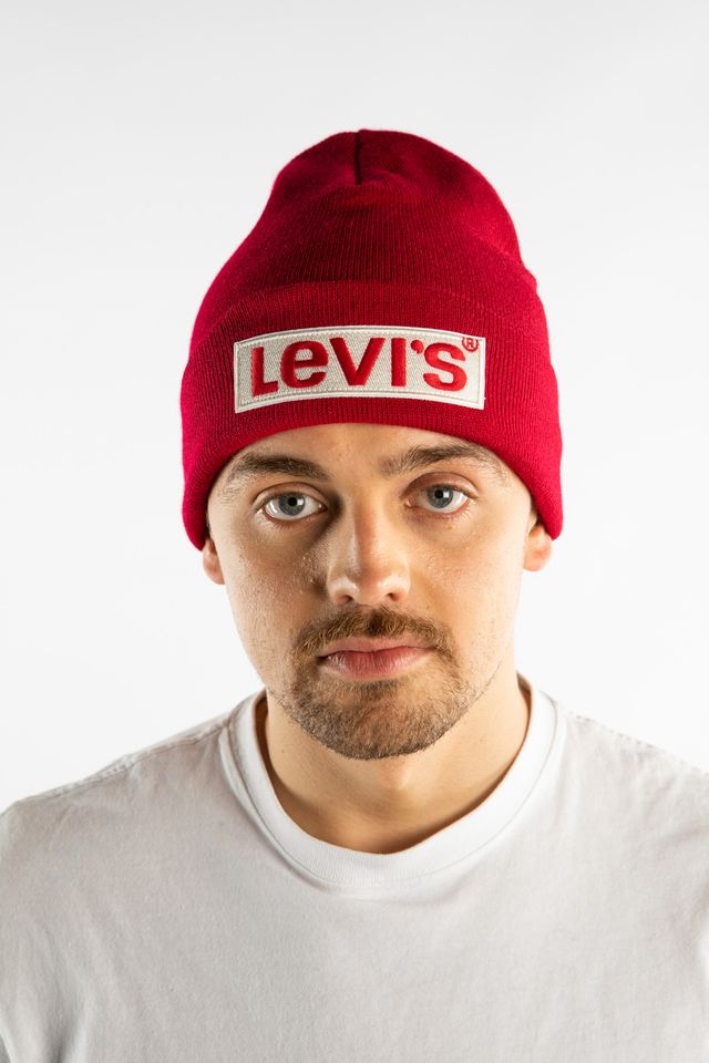 Levi's BIG BOX TAB BEANIE 0159 RED 38022-0159