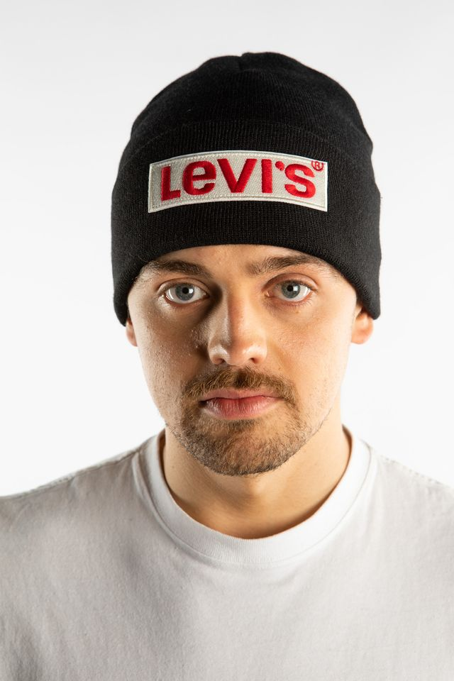 Levi's BIG BOX TAB BEANIE 0193 REGULAR BLACK 38022-0193