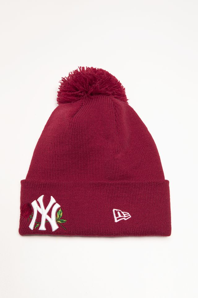 New Era TWINE BOBBLE KNIT 618 RED 12134618