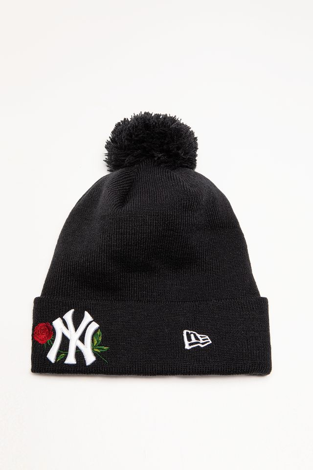 New Era TWINE BOBBLE KNIT 621 BLACK 12134621