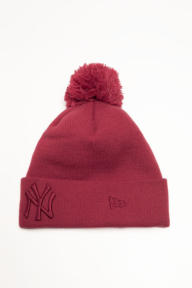 New Era LEAGUE ESSENTIALS BOBBLE KNIT 633 RED 12134633