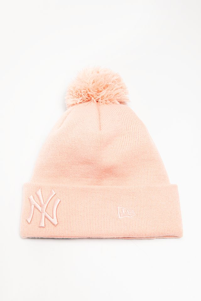 New Era LEAGUE ESSENTIAL BOBBLE KNIT 634 PINK 12134634