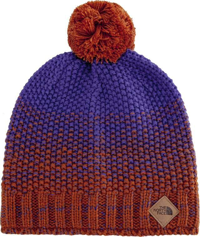 The North Face ANTLERS BEANIE GINGERBREAD BROWN/DEEP BLUE T93FIB6HZ