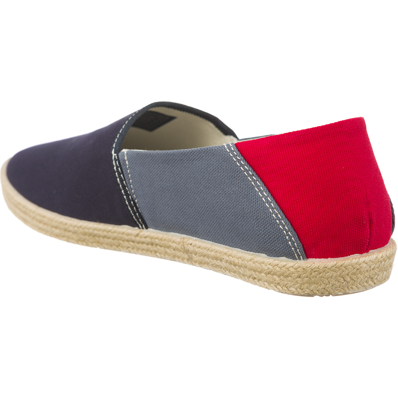 Espadryle Tommy Hilfiger  <br/><small>JEANS SUMMER SLIP ON 902 INK/JEANS/TANGO RED </small>  EM0EM00027-902