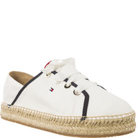 Espadryle Tommy Hilfiger METALLIC LACE UP ESPADRILLE FW0FW02218-121 WHISPER WHITE